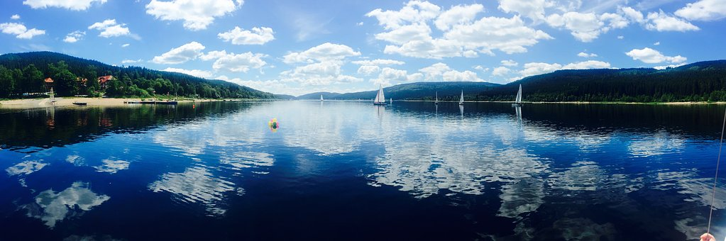 Schluchsee, Panorama, Sail, Black Forest, Dinghy