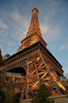 Eiffel Tower, Las Vegas, Landmark, Tower, City, Travel