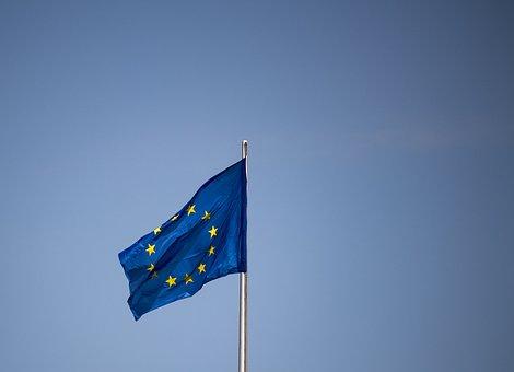 Flag, Europe, Eu Flag, Star, Blue, Sky, Flutter, Eu