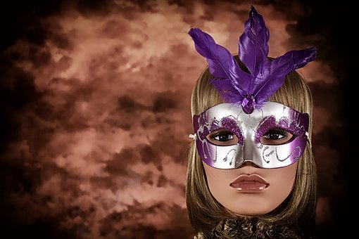 Carnival, Mask, Woman, Face, Mysterious, Doll