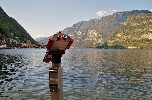 Lake, Hallstatt, The Austrian, Alps, Alpine, Telescope