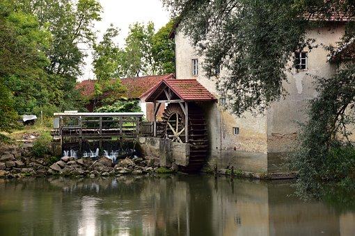 Mill, Old, Water, Building, Historically, Architecture
