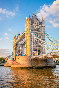 London, Tower Bridge, Landmark, Architecture, England