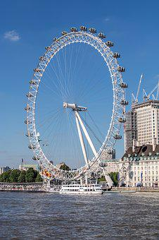 London, London Eye, Ferris Wheel, England, Attraction
