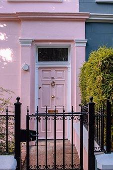 London, Nottinghill, Door, Pink, City, Portobello