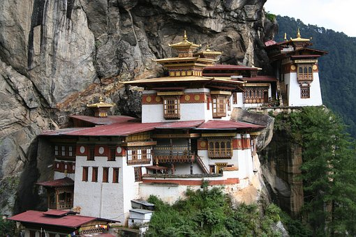 Tigers Nest, Monastery, Bhutan, Paro, Buddhism, Church