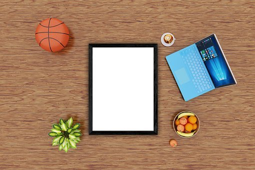 Basketball, Poster, Mockup, Interior, Plant, Notebook