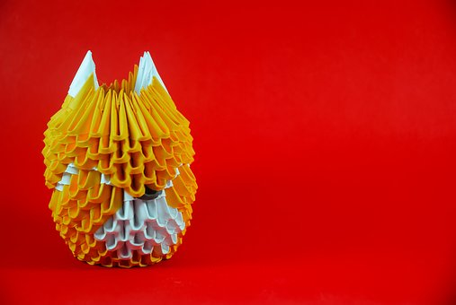 Fox, Origami, Paper, Japan, Shape, Style