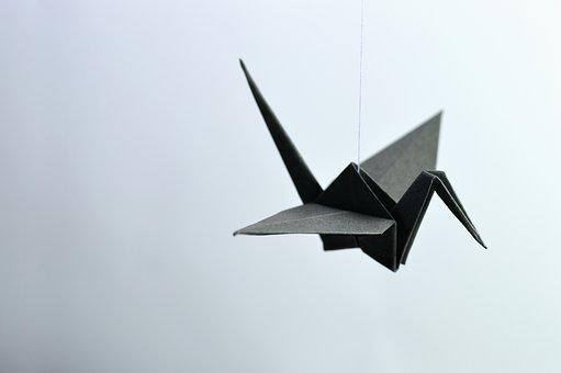 Origami, Paper, Bent, Wing, Freedom, Ave, Handmade