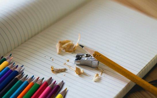 School, Back To School, Paper, Color, Colored, Pencils