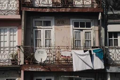 Porto, Portugal, Cuba, Facade, Old, Window, Building