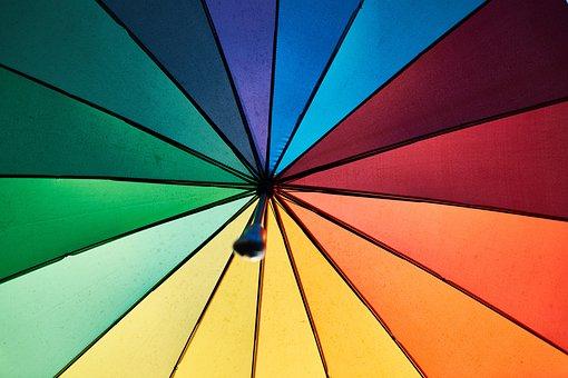 Colors, Rainbow, Live, Umbrella, Sun Visor, Rain