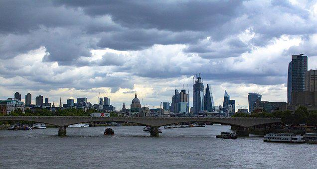 London, River, City, Bridge, England, Cityscape