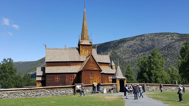 Church, Norway, Architecture, Wood, Scandinavia