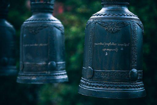 Bells, Row, Shrine, Temple, Asian, Monastery, Religion