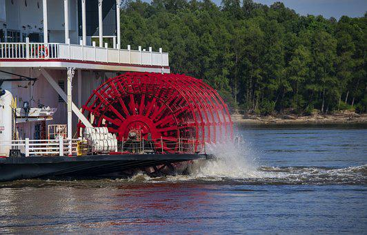 Paddle Wheel, River Boat, Stern Wheel, River, Boa