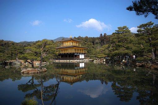 Ginkaku-ji Temple, Japan, Kyoto, Garden, Temple