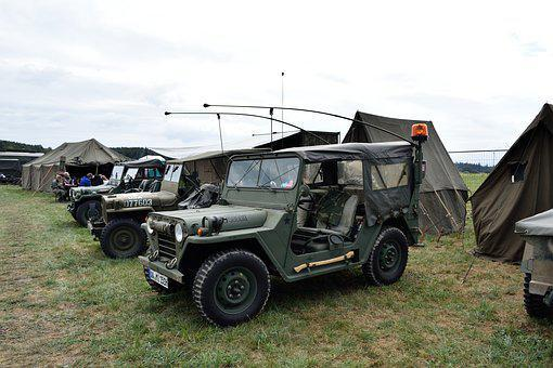 Car, Green, Tent, Military, Cross-country, War, Machine