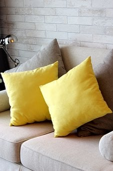 Pillow, Yellow, Sofa, To Relax, The Format, Cushion