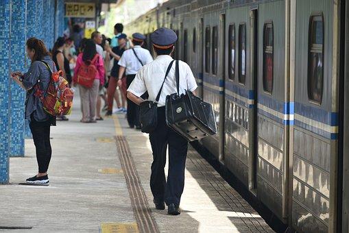 Railway, Station, The Train Conductor, Driver, Train