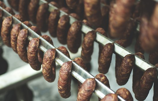 Traditional Meat, Smoked, Food, Meal, Meat, Sausage