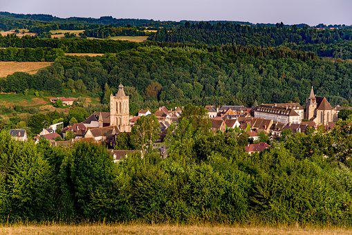 Village, Church, Landscape, Countryside, Rural, Country