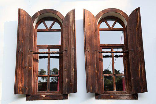 Double Window, Architecture, Window, Home, Cami