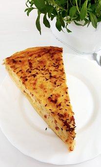 Zwiebelkuchen, Eat, Plate, Culinary Herbs, Table