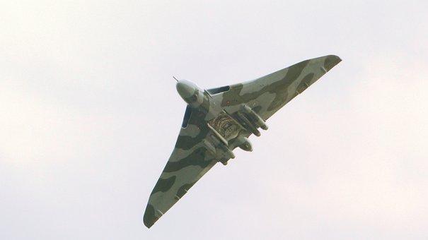 Air Show, Vulcan, Bomber, Aeroplane, British, Jet