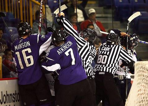 Hockey, Referee, Hockey Referees, Fight, Altercation