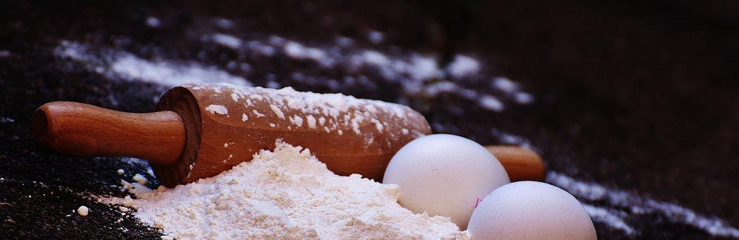 Bake, Rolling Pin, Egg, Flour, Ingredients, Prepare