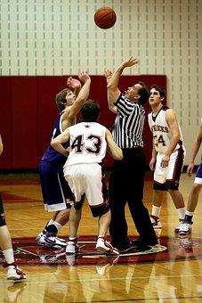 Basketball, Jump Ball, Game, Action, Ball, Jump, Active