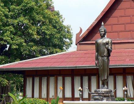 Thailand, Buddha, Statue, Bronze, Buddhism, Buddhist