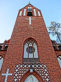 Divine Mercy Church, Bydgoszcz, Tower, Poland, Building