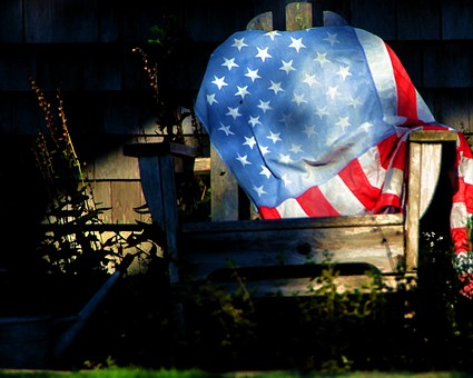 Flag, Chair, Summer, Wood, Holiday, Outdoors, Sheet