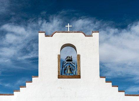 Socorro Mission, Church, New Mexico, Adobe, Catholic