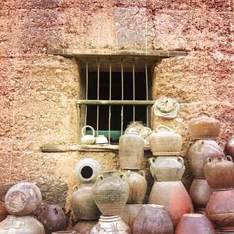 The Adobe, Clay, Clay Pots, In Rural Areas, Window