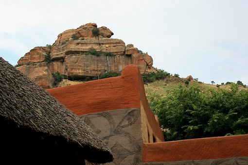 Basotho Village, Corner Of Building, Adobe, Building