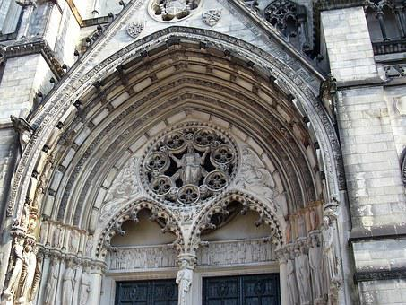 United States, New York, Cathedral, St Patrick, Facade