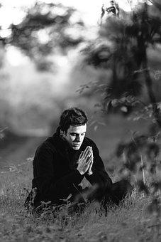 Meditation, Forest, Young Man, Spiritual, Namaste