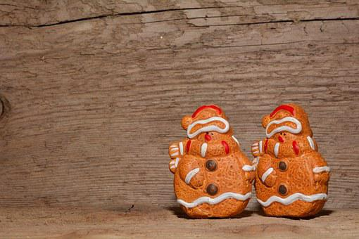 Snowmen, Figure, Gingerbread Man, Males, Clay Figures