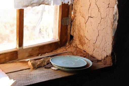 Shack, Plates, Adobe, Old, Vintage, Culture, Home