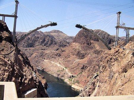 Hoover, Dam, Street, Bypass, Construction, Bridge