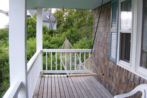 Porch, Swing, Relax, Summer, House, Exterior