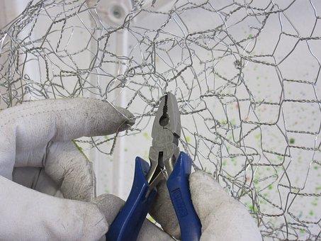 Pliers, Wire, Hands, Wire Sculpture, Bending, Metal