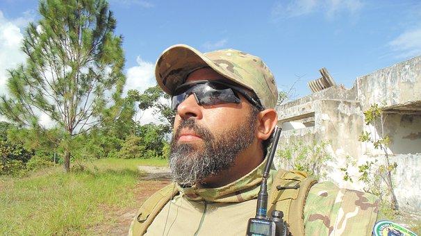 Commander, Focus, Male, Peron, Beard, Military