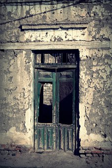 Door, Old, Ruins, Old Building, Cracks, Adobe