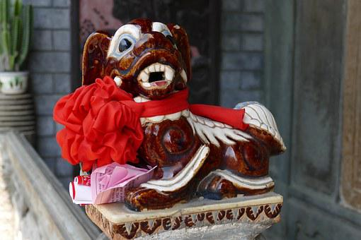 Vietnam, Temple, Old Town, Chinese, Fig, Dog