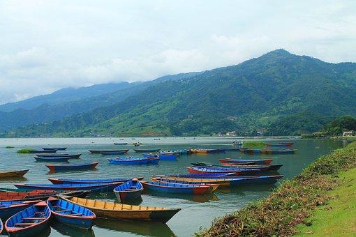 Pokhara, Nepal, Boats, Colorful Boats, Nepali