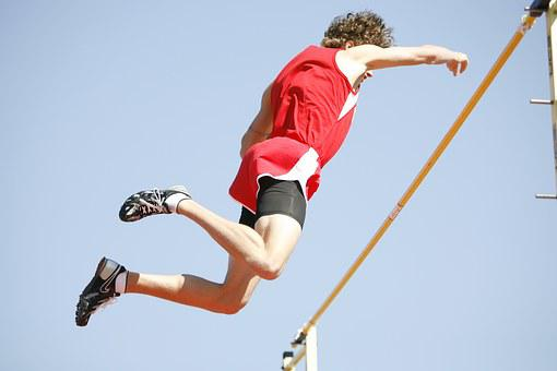 Pole Vault, Athlete, Pole Vaulter, Pole, Male, Sports